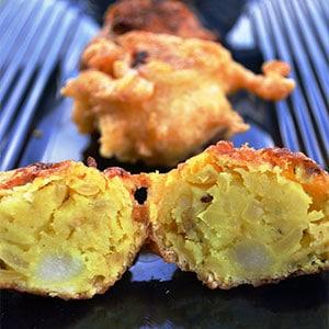 Картофельные котлеты из пюре по-индийски - фото