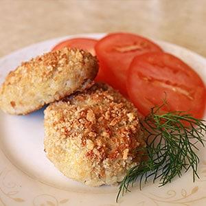Рецепт рыбных котлет из трески в духовке - фото