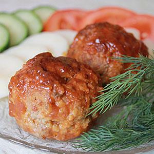 Мясные тефтели запеченные в духовке с томатпастой