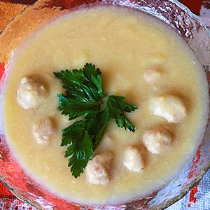 Рецепт горохового супа с фрикадельками
