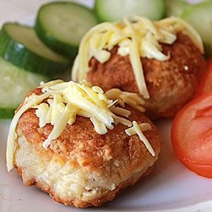 Котлеты с овсянкой и фаршем - рецепт с добавлением сыра