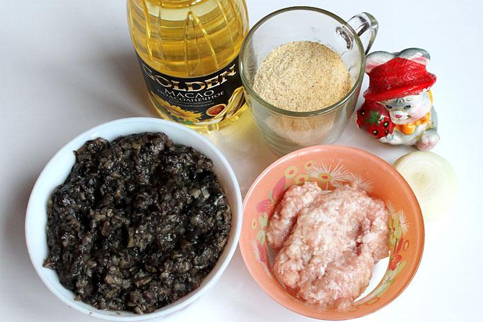 Ингредиенты для грибных котлет