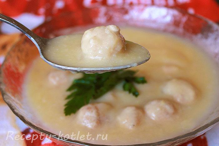 Фрикадельки из горохового супа - фото
