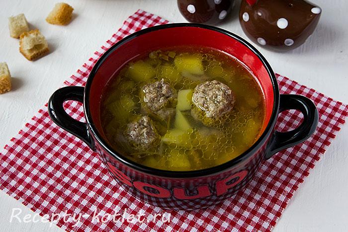 Суп с картофелем и фрикадельками - итоговое фото