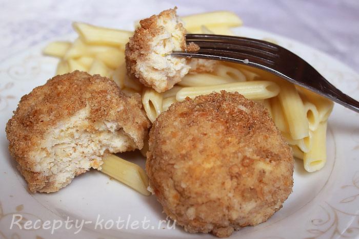 Куриные котлеты с сыром запеченные в духовке