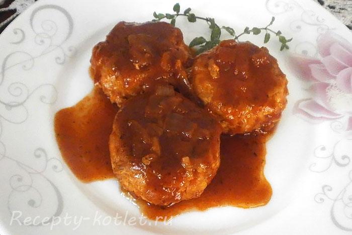 Готовые куриные тефтели +в томатном соусе