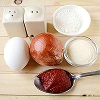 Готовим продукты для луковых котлет - фото