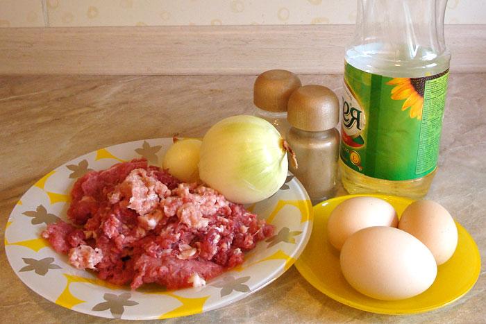 рецепт мясных котлет из фарша с яйцом