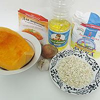 Приготовим ингредиенты для постных тыквенных котлет - фото