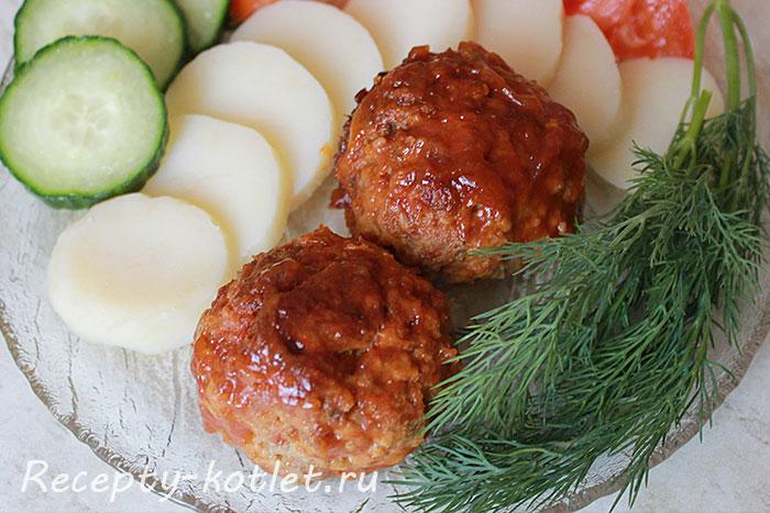 Готовые духовые тефтели с томатпастой